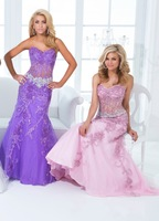 High Quality New Arrival Elegant Princess Sweetheart Strapless Lace Beading Long Prom Dress Party Gown Formal Evening Dresses
