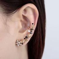 SWA Element Crystal Ear Wrap Cuff Earring Red/Purple/Black 18K Gold Plated Rhinestone Ear Cuff For Women Top Quality