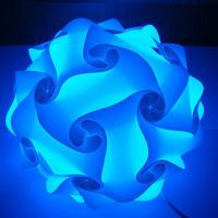 Wholesale IQ Jigsaw Puzzle IQ lamp light blue color pendant light,size 25cm/30cm/40cm YSLIQBE free shipping