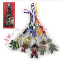 50sets/lot Free Shipping Japanese Anime Cartoon HELLSING Cell Phone Strap Metal Pendants