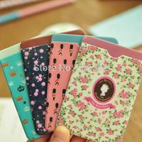 NEW style flower credit card holder, bus card case,Cutting protector/sleeve,cartoon design (tt-1037)