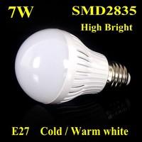 5PCS CE&ROHS 7W(23PCS) Cold/Warm white Led Bubl Lights Brightness High power LED spot bulb lamp