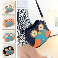 Bolsas femininas 2014 desigual women handbag,cartoon owl women messenger bags,bolsa franja women leather handbags