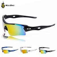 Cycling Glasses Mountain Wolf-bike Polarized 3 Lenses Sunglasses Bike Bicycle Glasses Professional Polarized Cycling Glasses