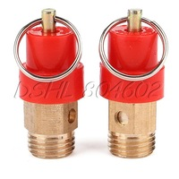 """Pull to Release Air Compressor Safety Valve 1/4"""" BSPT 4kg Pack of 2"""