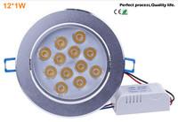 12X1W Led Bulbs Led Ceiling Lamp AC85V-220V LED Indoor Lighting Spotlight Down Light Home Led Lighting With Driver Free Shipping