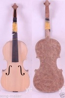 One White violin unfinished violin Birdeye maple wood 4/4 High quality New