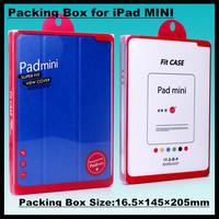 50pcs!16.5*145*205mm Ultra-thin PVC Tablet Case Holster Retail Box High-grade Packaging Display Box for iPad MINI Dedicated