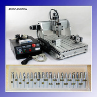 4 Axis 800W Spindle CNC3040 CNC 3040 CNC 3040Z CNC Engraving Machine 1.5kw VFD CNC Router Water-Cooling