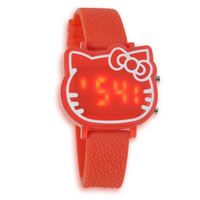 Hello Kitty the lovely LED KT watches, cathead student electronic tape Watches,electronic movement Cartoon Watches.