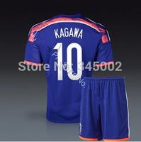 Top thai 3A+++ quality 2014-2015 Japan Home #10 KAGAWA  jersey set (jersey+short) ,2014 World cup Football Kit free shipping