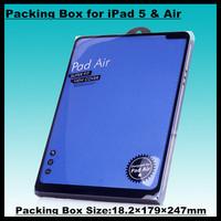 40pcs!18.2*179*247mm Ultra-thin PVC Tablet Case Holster Retail Box High-grade Packaging Display Box for iPad 5/Air Dedicated