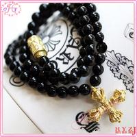 Free shipping Christmas gift cross pendant charm multi-function bracelet BL74