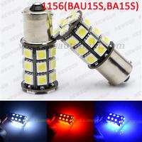 2014 New Car lights 2x Super Bright 27 LED SMD CanBus 1156 Led Ba15s S25 P21W / 1156 BA15D Backup Reverse Light Bulb Error free