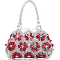Acrylic beaded flower bridal package brand new 2014 portable shoulder bag handbag bag handbags dress