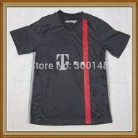Embroidery Logo!!! 14/15 BayenFC Third Black Soccer Jersey ,Thailand Quality BayenFC Black Shirt+Free Shipping