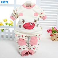1 piece retail 100% cotton baby set new 2014 autumn children set for girl baby clothes PANYA HR10