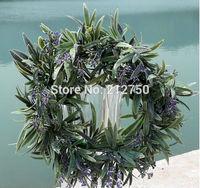 2014 New 28CM home garden decoration artificial lavender flower hotsale artificial plant wreath flower garland