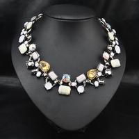 New 2014 Jewelry  Wholesale Bojoux Fashion Vintage Hot Style Women Collars Wedding Rhinestone Alloy Jewelry Statement Necklace