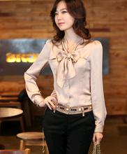 popular satin blouse