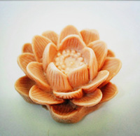 free shipping 1pcs 3D lotus  shape candle Muffin case Candy Jelly Ice cake soap Chocolate Silicone Mould Mold zx1544