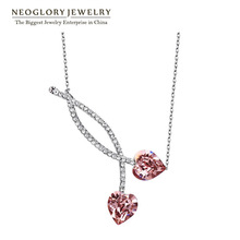 Neoglory Austria Crystal Czech Rhinestone Platinum Plated Heart Love Chokers Necklace for Women 2015 New Party Gift Charm