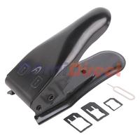 New Upgrade 2In1 Mini Cutting Tool Nano SIM Micro Sim Card Cutter Dual Sim Cutter For Iphone 5 4s 4 SIM Adapter High Quality One