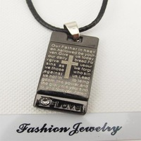 Men Titanium Steel Necklace Pendant,Casual Fashion Gifts for Boyfriend, Cross Steel Jewelry Wholesale,Free Shipping