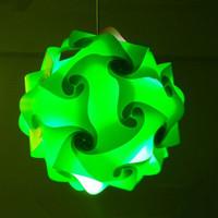 Modern IQ Puzzle Lamp Shade DIY iq jigsaw lamp green color pendant light,size 25cm/30cm/40cm YSLIQGN free shipping
