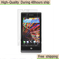 High Quality Screen Protector with Retail Package Clear For Motorola XT889 Free Shipping DHL UPS EMS HKPAM CPAM