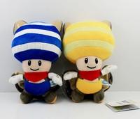 Free Shipping 20cm Mario series bat yellow blue mushrooms children plush toy