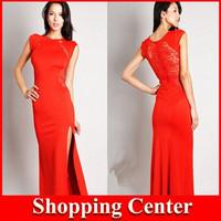 Freeshipping hot 2014 new women's evening dress lace party long dress dropshipping
