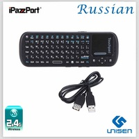 hot sales Russian  keyboard  iPazzPort 2.4G laptop mini external keyboards wireless keyboard Smart TV BOX