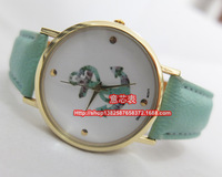 2014 new style 100pcs/Lot Hot Selling Flower Anchor Watches For Ladies Women Dress Watch Quartz Watches