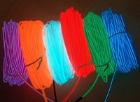 10 different colors el wire 2.3mm 100m  with AC90V--AC240V el inverter, with on/flash/off function