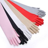 free shipping Sunscreen gloves female summer anti-uv sun-shading sunscreen oversleeps long design long gloves