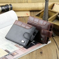New Eurpean Style Men Wallets Short PU Standard Wallet Fashion's Dollar Package Coin Purse Card&ID Holder