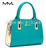 Freeshipping  2014 new arrival trend shiny women one shoulder handbag large japanned leather women handbags messenger bags