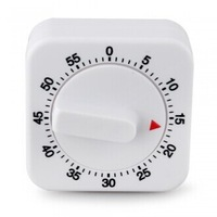Free shipping!!! Square Shape Kitchen Cooking Mechanical Timer 60 Minutes Alarm Classic