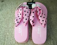 New Fashion Women's Ribbons Polka Dot Flip Folps Shoes EUR Size 36,37,38,39