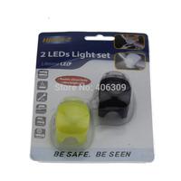 2paris/lot New Sport Cycling Tail Light LED Rear Warning Bicycle Rear Light Lamp trailer Bike light free shipping