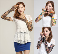 Pure cotton modal sunscreen gloves anti-uv thin semi-finger lucy refers to sports long design oversleeps arm sleeve
