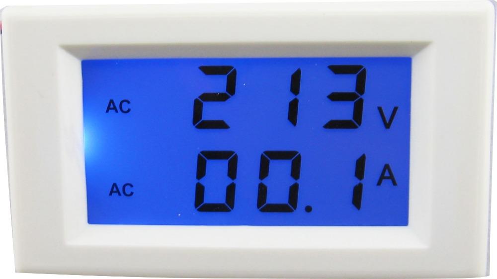 80-300V/100A dual display LCD digital AC voltmeter ammeter volt amp Ampere tester(China (Mainland))