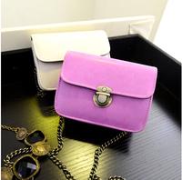 Summer models little bag of candy-colored retro Korean chain synchronization latch shoulder diagonal purse bag
