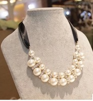 Wholesale or retail hot Sales Jewelry new fashion Pearl  Ribbonstone necklace  for women gift  NE-016