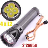 LustFire DV300 4xCREE XM-L2 4800 Lumens LED Professional Scuba Diving Flashlight (2x26650)