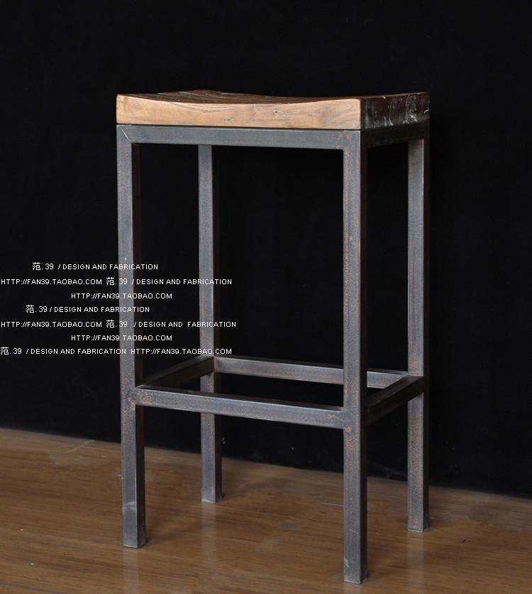 Estilo loft de metal retro fazer o Presidente cadeira tamborete de madeira tamborete de barra tamborete de barra tamborete de barra velha(China (Mainland))