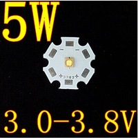 1psc 1w 3w 5W LED Lamps light  White Integrated High power  Lamp Beads 6000-6500K 3.0-3.8V 400-450LM 45mil Chip Free shipping