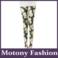 Motony Women's Coin Pattern Fashion Leggings Stretch Leggings