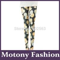 Motony Women's Coin Pattern Fashion Leggings Stretch Leggings